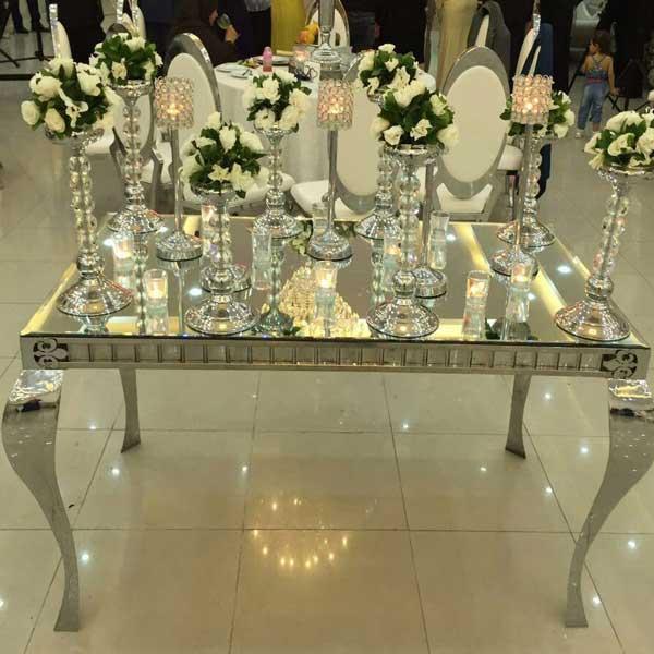 خدمات مجالس - میز کوئین آینه ای ۱۸۰